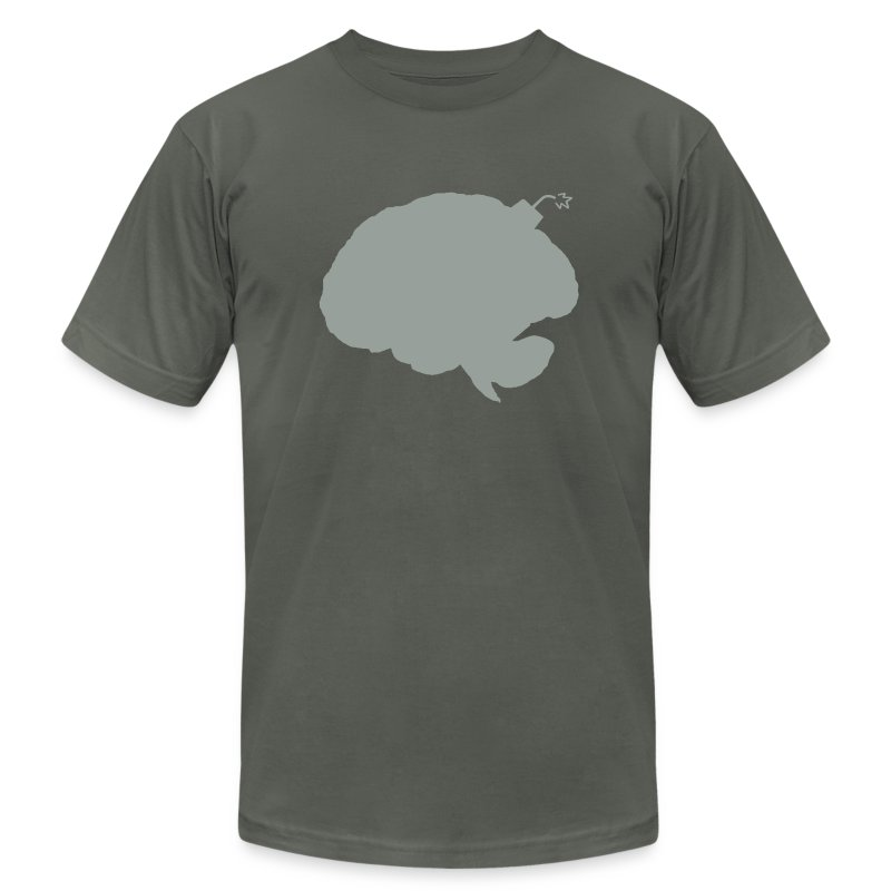 Brainbomb - Gray on Asphalt - Men's Fine Jersey T-Shirt