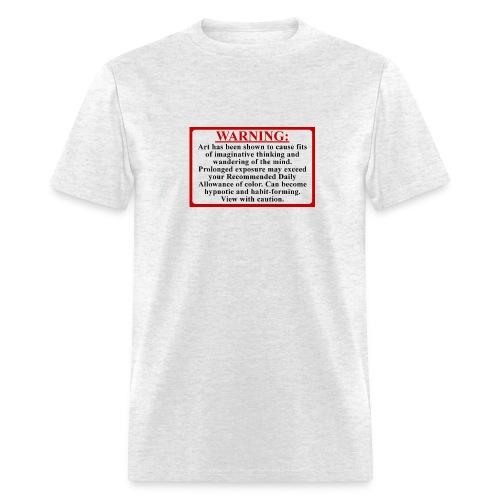 Men's Art Warning Tee - Men's T-Shirt