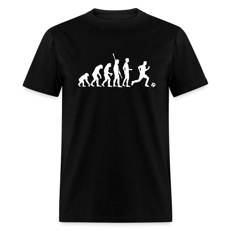 evolution fussball weiss t shirt spreadshirt. Black Bedroom Furniture Sets. Home Design Ideas