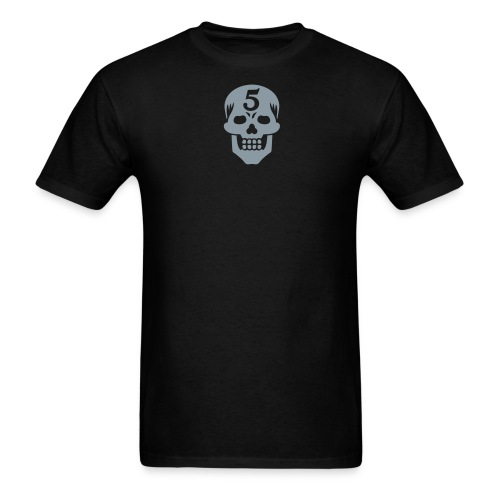 Operator 5 Skull Metallic Tee (M) - Men's T-Shirt
