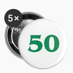 White number 50 (1c) Buttons