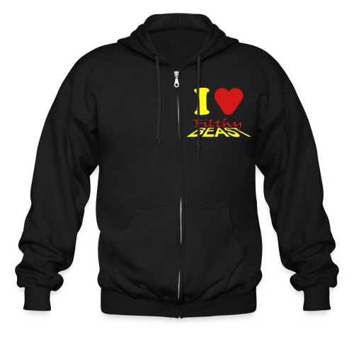 I Love Filthy Beast - Men's Zip Hoodie