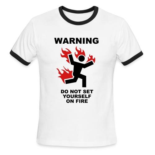 Warning - Men's Ringer T-Shirt