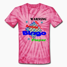 Spider pink Warning Avoid Bingo Player T-Shirts