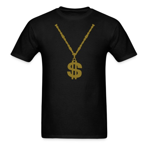 mens dollar sign chain - Men's T-Shirt
