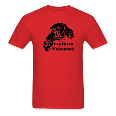 Red panther custom team graphic T-Shirts