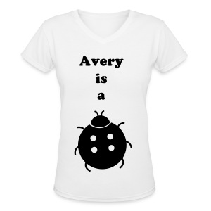 Avery Is A Bug Tee  - Women's V-Neck T-Shirt