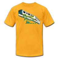 T-Shirts ~ Men's T-Shirt by American Apparel ~ Detroit People Mover men's American Apparel Tee