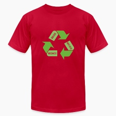 Brown Recycle Reuse Reduce T-Shirts