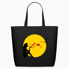 Black pinup throwing a kiss (2c) Bags