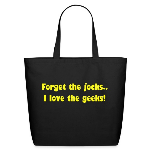 Jocks out...geek in - Eco-Friendly Cotton Tote