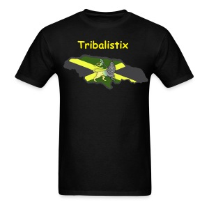 Black Tribalistix Lion Island - Men's T-Shirt