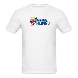 Men's Defintely Filipino Logo Shirt with Definitely Filipino printed on front - Men's T-Shirt