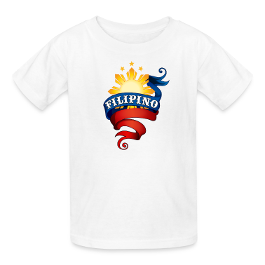 White Filipino Logo Kids' Shirts