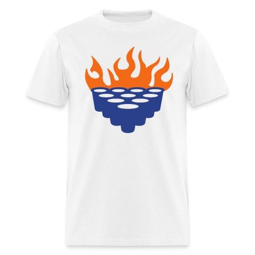 Flaming Beer Pong - Men's T-Shirt