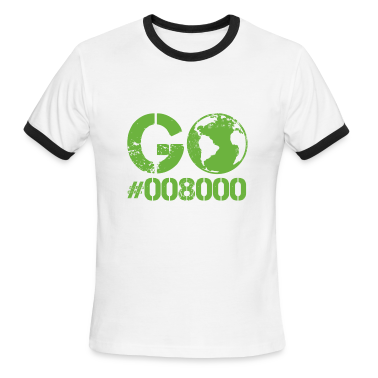 White/black Go Green RGB CMYK  T-Shirts