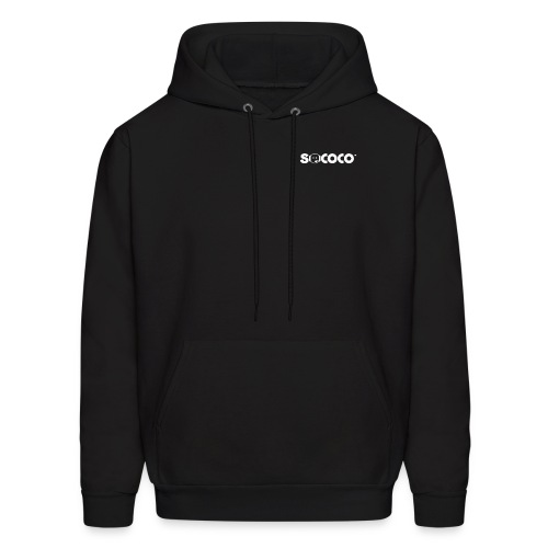 Hooded Sweatshirt - Sococo Icon on Back - Men's Hoodie