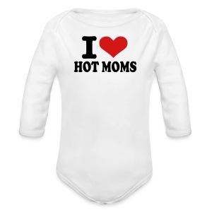 hot moms :) - Long Sleeve Baby Bodysuit