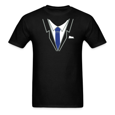 Black fake suit and tie (3c) T-Shirts