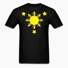 Black 3 Stars and a Sun T-Shirts