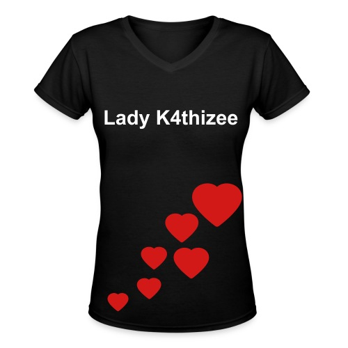 lady k4thizee heart - Women's V-Neck T-Shirt