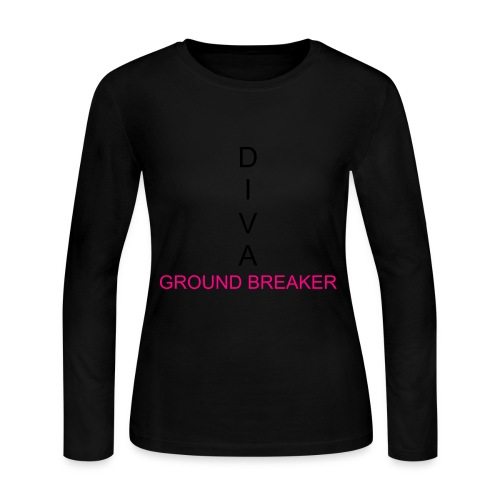 Groundbreaker Long Pink - Women's Long Sleeve Jersey T-Shirt