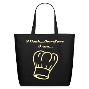 I cook therefore i am - Eco-Friendly Cotton Tote