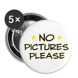no pictures please - Small Buttons
