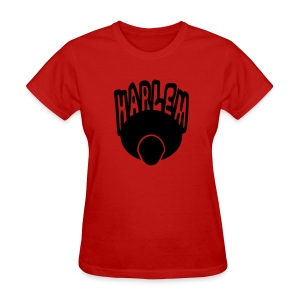 WUBT 'Harlem, Afro, Face--1 Color' Women's Standard Tee, Red - Women's T-Shirt