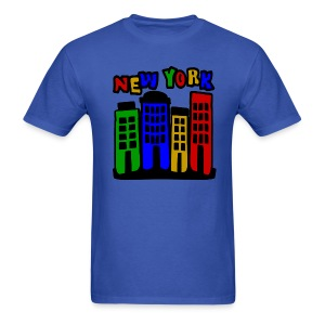 WUBT '4 New York City Brownstones, 5 Color'--DIGITAL DIRECT, Men's Standard Tee, Royal Blue - Men's T-Shirt