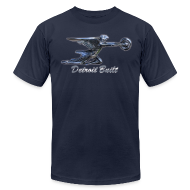 T-Shirts ~ Men's T-Shirt by American Apparel ~ Detroit Built Packard Hood Ornament Hood Ornament Men's American Apparel Tee