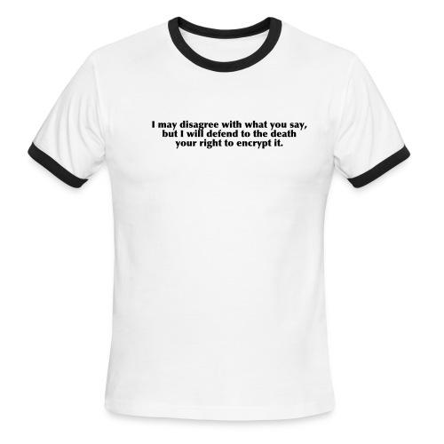Encrypt this! - Men's Ringer T-Shirt