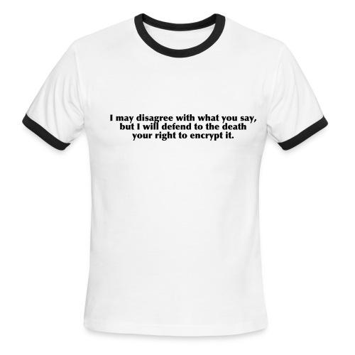 Freedom Of Encryption Ringer Tee - Men's Ringer T-Shirt