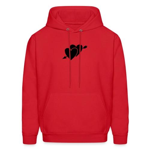 red heart - Men's Hoodie