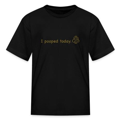 Pooped (Black.Brown) - Kids TShirt - Kids' T-Shirt