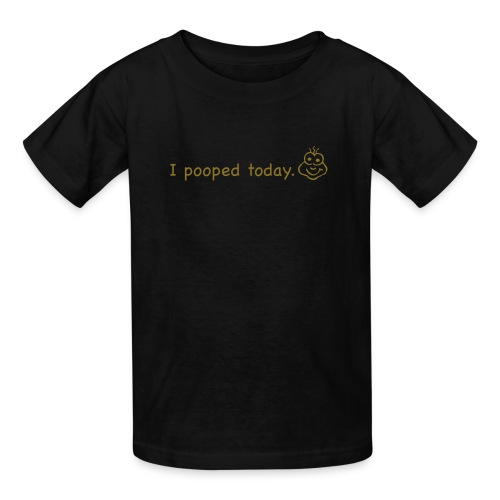 Pooped (Black.Brown) - Kids TShirt - Kids' T-Shirt