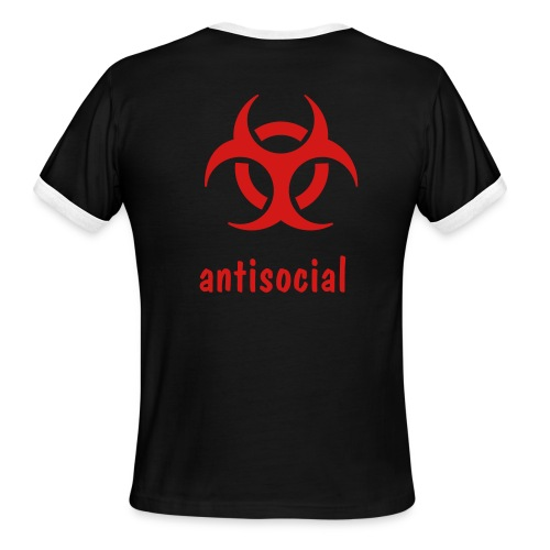 antisocial - Men's Ringer T-Shirt