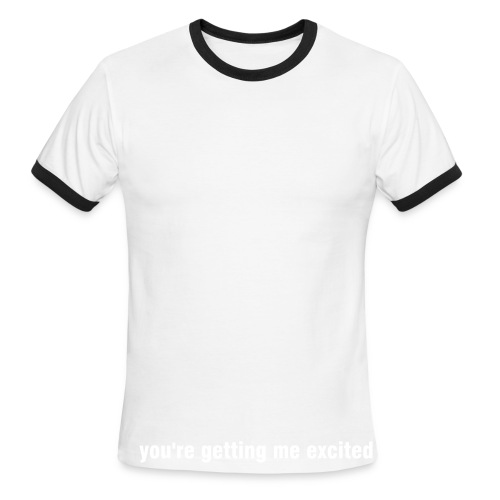 A little close. - Men's Ringer T-Shirt