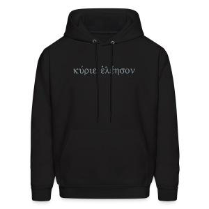 Kyrie Eleison (Flex Metallic Silver Hoodie) - Men's Hoodie