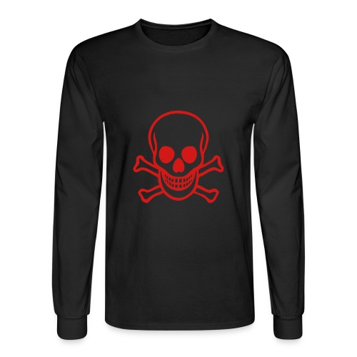 Red skull long sleeve tee - Men's Long Sleeve T-Shirt