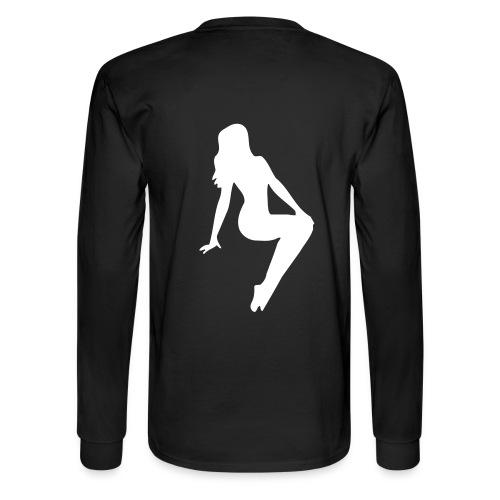 sitting women - Men's Long Sleeve T-Shirt