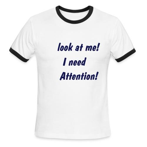 Attention - Men's Ringer T-Shirt