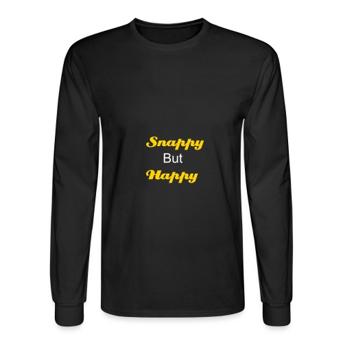Snappy but happy TShirt - Men's Long Sleeve T-Shirt