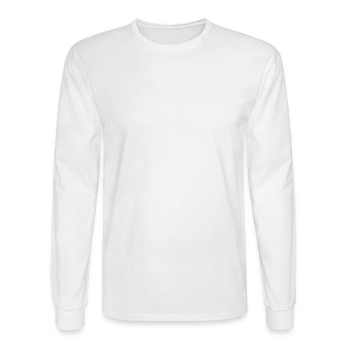 White Hanes Long Sleeve - Men's Long Sleeve T-Shirt