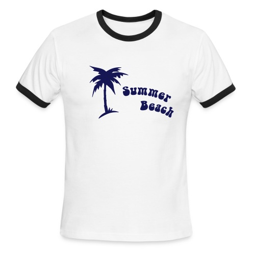 Summer Beach T'shirt - Men's Ringer T-Shirt