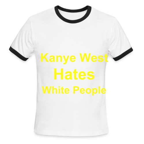 The Sky Blue Kanye - Men's Ringer T-Shirt