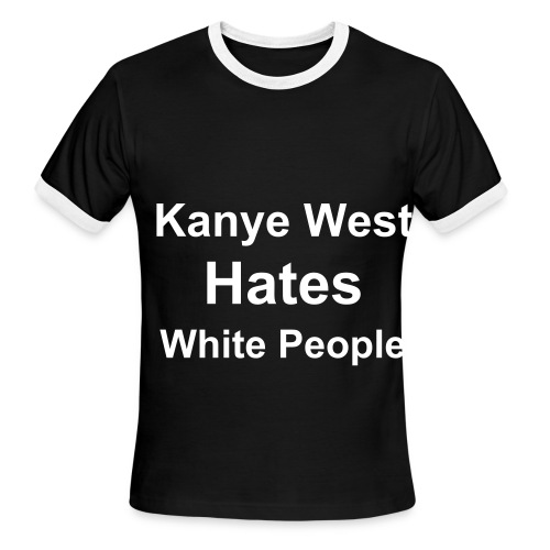 The Black Kanye - Men's Ringer T-Shirt