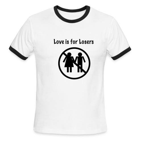 No Luck With Girls - Men's Ringer T-Shirt