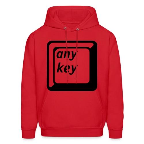 Hit Any Key Hooded Sweatshirt - Men's Hoodie