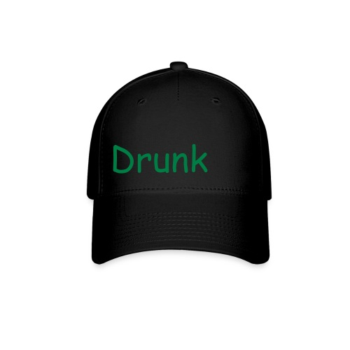 Black and Green 'Drunk' fitted hat - Baseball Cap
